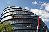 Window cleaning on the London Assembly building