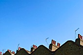 Abstract view of terraced houses roof