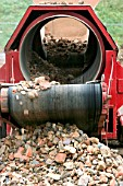 Waste management. Crushing stones and bricks