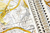 Detail of a AtoZ London city map