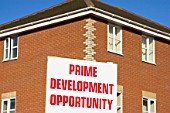 Advertising board for a new development