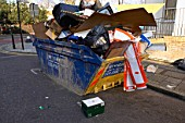 Overloaded skip are potential hazard to residents and road users