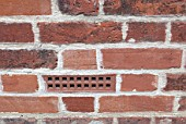 Air brick in brick wall