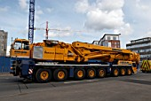 Mobile crane used to erect standing cranes
