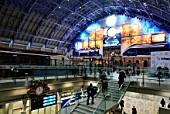 The redeveloped St Pancras station, home of Eurostar, London, UK