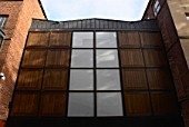 Exterior facade of a modern extension of Leeds Art Gallery, Leeds, UK