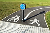 Cycle and pedestrian path, Ipswich, UK
