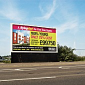 Advertisment board for the Fairview Homes Modus development, Ipswich, Suffolk, UK