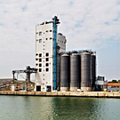 Grain storage facility, Lowestoft, Suffolk, UK