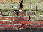 Subsidence damage to a brick wall of a building