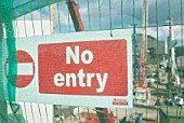 Protective fencing surrounding the site for the Renzo Piano designed Shard building, London Bridge, UK