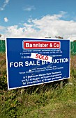 Plot of land sold at auction, Felixstowe, Suffolk, UK