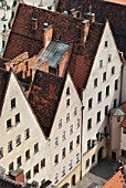 Baroque-style housing on the old town square of Wroclaw, Poland