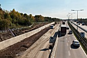 M25 widening scheme near Junction 17 and 18 of the motorway, UK