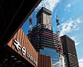 Construction of Renzo Piano designed The Shard building, London Bridge, UK