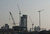 Athena Tower under construction on Stratford High Street, East London, UK