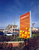 External Totem at Sainsburys Store in Bourne, Lincolnshire