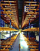 Interior of Automated High Bay Warehouse
