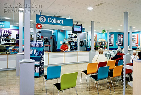 Collection point inside a shop Argos UK