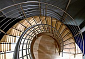 Downward View of Spiral Stair