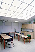 Room with special lighting for teaching autistic people