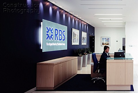 Royal Bank of Scotland RBS offices reception area