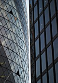 Swiss Re Building, the Gherkin, City of London, United Kingdom. Designed by Norman Foster and Partners.
