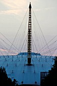 Millennium dome roof structure in shadow