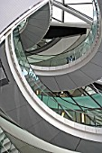 Interior view of City Hall spiral staircase, Greater London Authority building, London, United Kingdom. Architects Norman Foster and Partners. Engineers Arup.