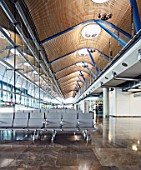 Interiors of the new aiport terminal 4 in Madrid, Spain