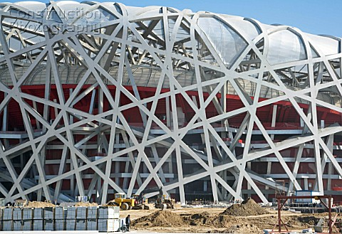 Beijing National Stadium also known as the Birds Nest Beijing China