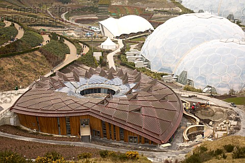 The 15 million education centre The Core is the new addition of the Eden Project St Austell Cornwall