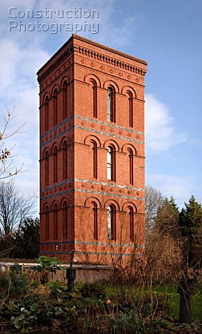 A converted Victorian water tower near Tewkesbury Gloucestershire UK