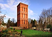 A converted Victorian water tower near Tewkesbury, Gloucestershire, UK