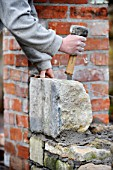 Building a garden wall with cotswold stone and cement mortar UK