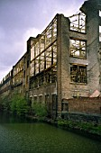 Derelict Victorian industrial warehouse
