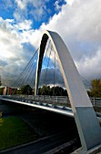 The Hulme Arch Bridge, Manchester, UK.