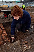 Archaeological dig prior to property development, UK.