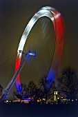 Opening night of the London Eye (Millennium Wheel 31st December 1999.. London, United Kingdom. Designed by David Marks and Julia Barfield.