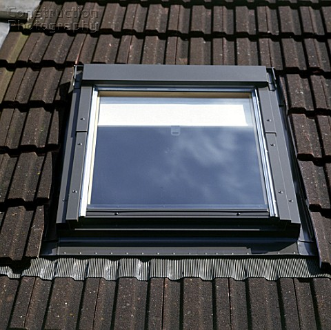 Loft conversion Velux window installed in the attic