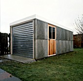 Garage constructed with Precast concrete blocks