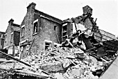 Victorian house destroyed by a gas explosion