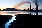 River Neath and Chemical Plant, Baglan, South Wales