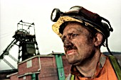 Miner by Pit Head, Tower Colliery, Hirwaun, Rhondda, South Wales