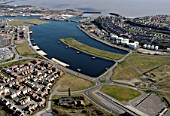 Aerial, Barry Waterfront and Docks, Vale of Glamorgan, South Wales