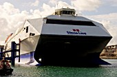 HSS Stena Explorer Ferry, Holyhead Harbour, Anglesey, North West Wales