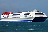 Stena Explorer, HSS Ferry Approaching Holyhead, Anglesey, North West Wales