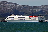 Stena Line, Stena Explorer Entering Holyhead Port, Anglesey, North West Wales