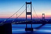First Severn Bridge at Sunset, Severn Estuary, South East Wales