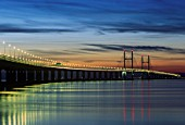 Second Severn Bridge at Sunset, Severn Estuary, South East Wales
